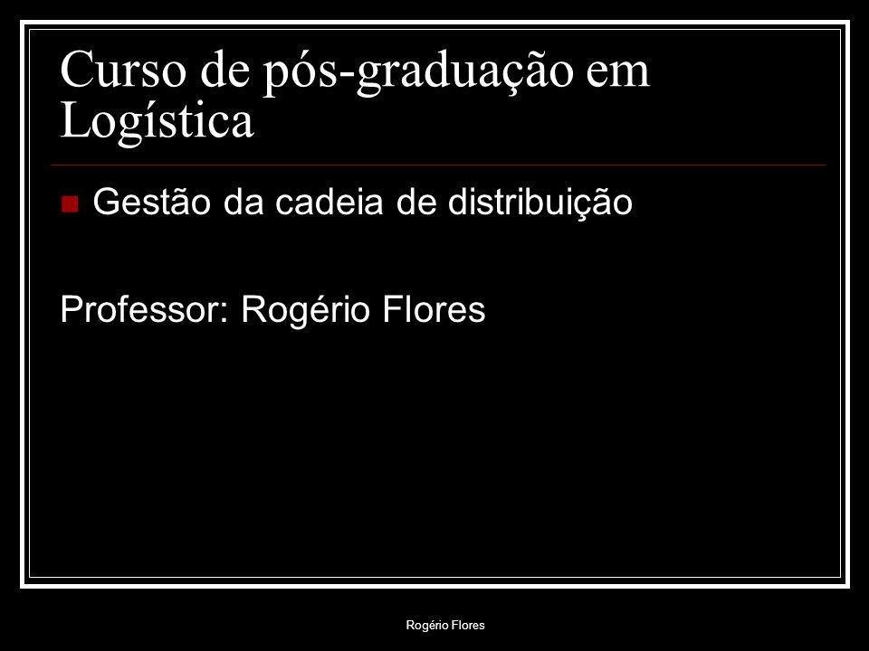 Curso de pós-graduação em Logística