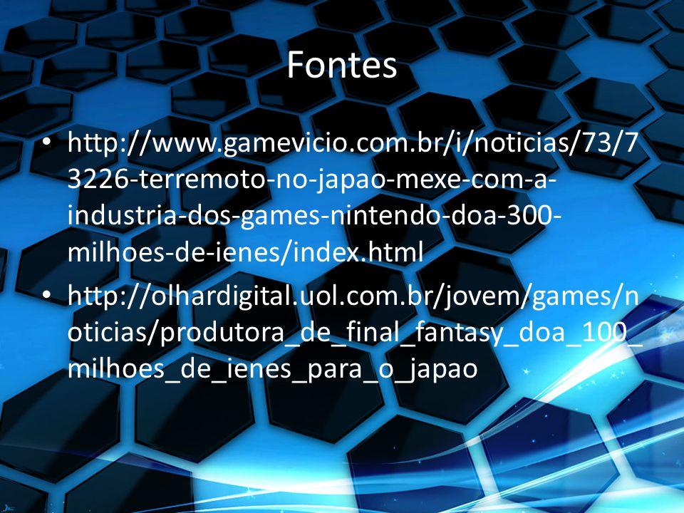 Fontes http://www.gamevicio.com.br/i/noticias/73/73226-terremoto-no-japao-mexe-com-a-industria-dos-games-nintendo-doa-300-milhoes-de-ienes/index.html.