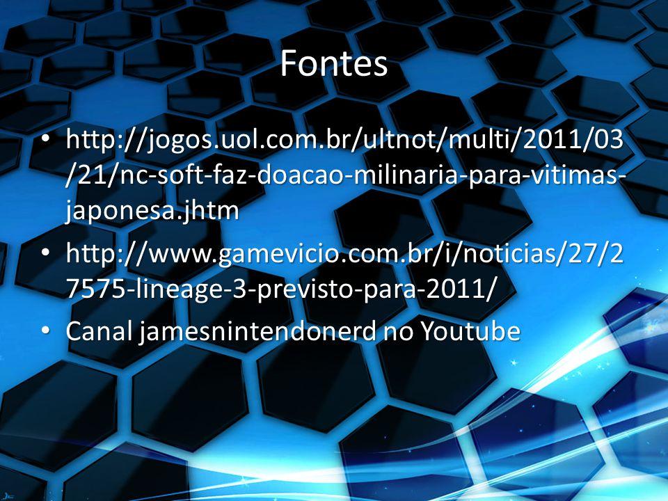 Fontes http://jogos.uol.com.br/ultnot/multi/2011/03/21/nc-soft-faz-doacao-milinaria-para-vitimas-japonesa.jhtm.