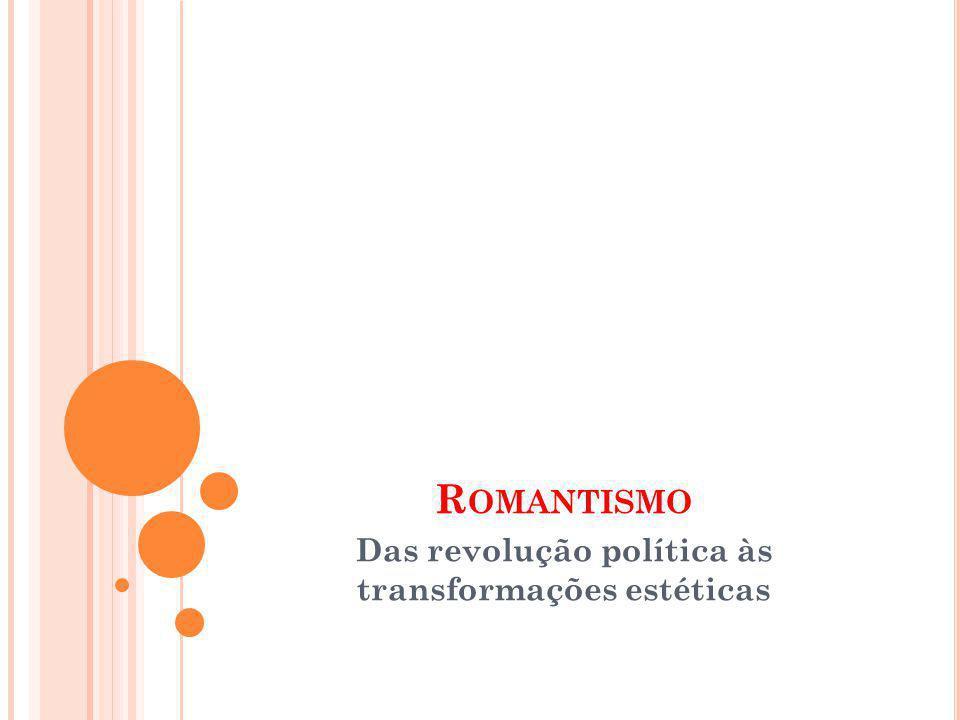 Das revolução política às transformações estéticas