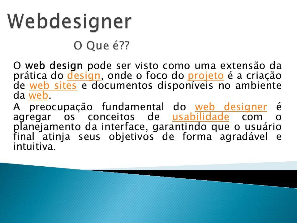 Webdesigner O Que é