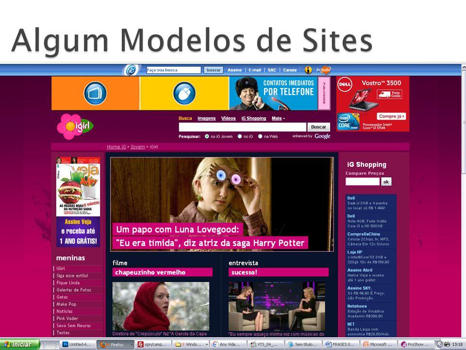 Algum Modelos de Sites
