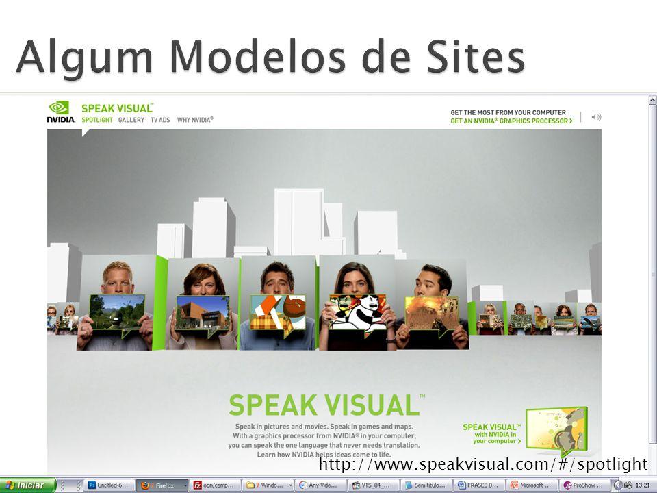 Algum Modelos de Sites http://www.speakvisual.com/#/spotlight