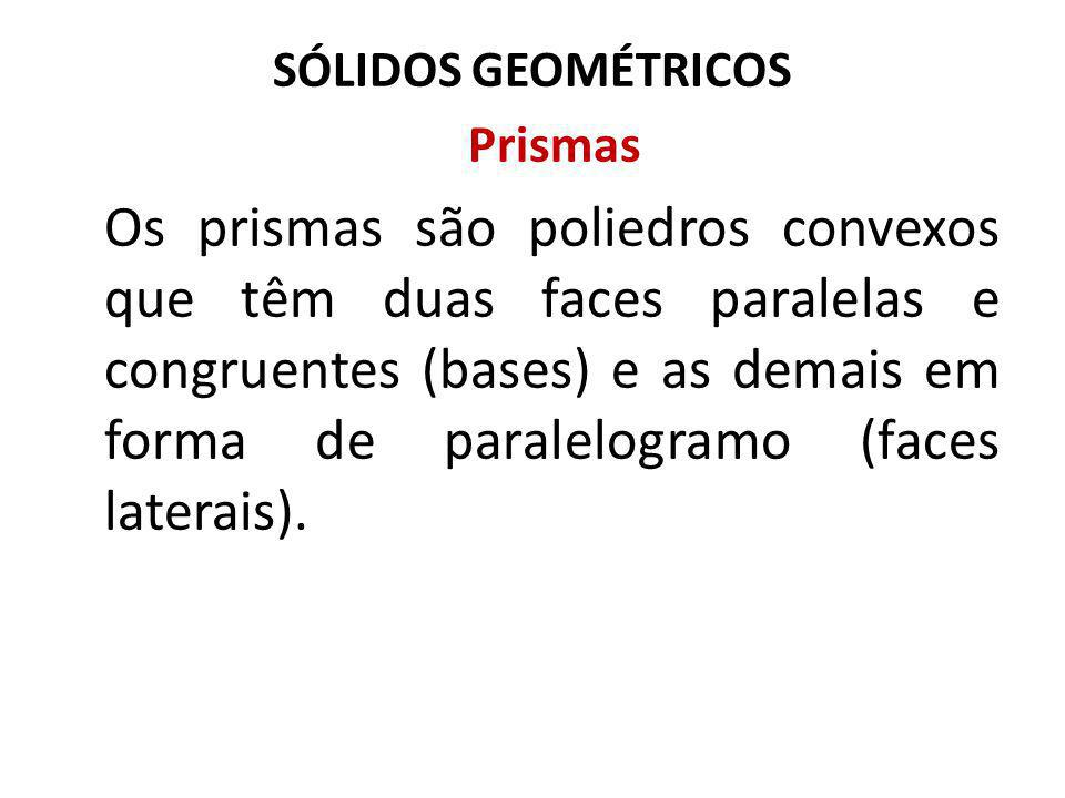 SÓLIDOS GEOMÉTRICOS Prismas.