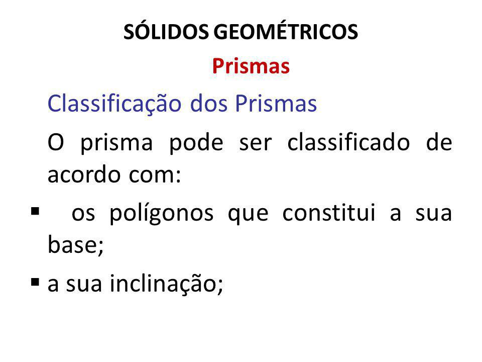 Classificação dos Prismas