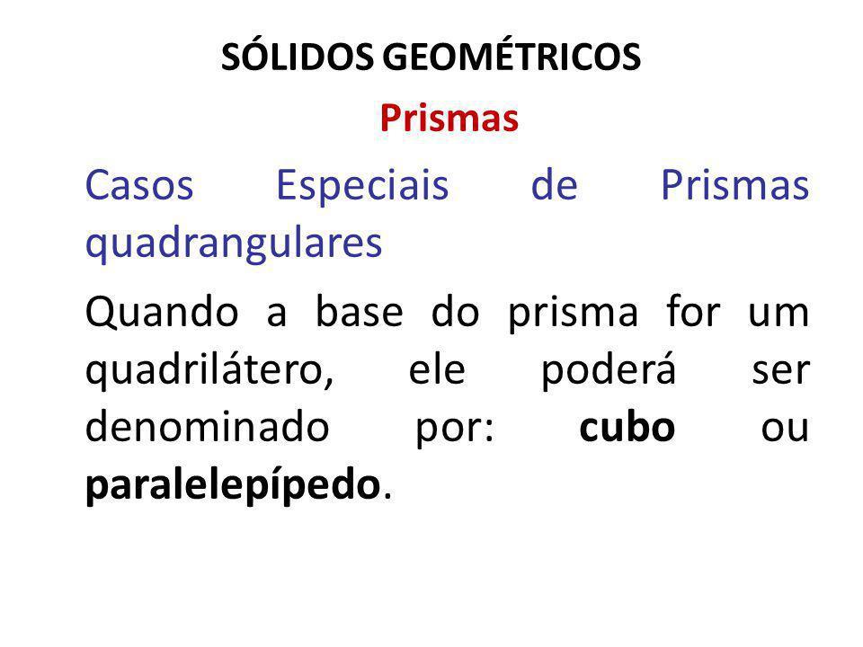 Casos Especiais de Prismas quadrangulares