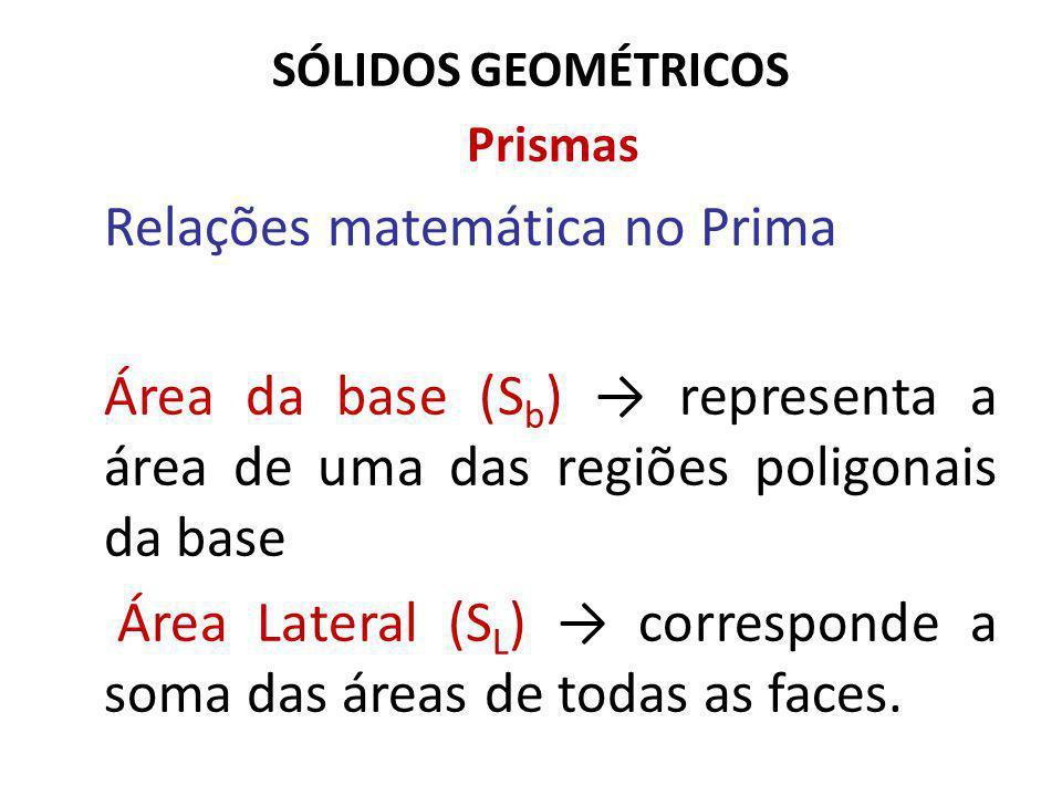 Relações matemática no Prima