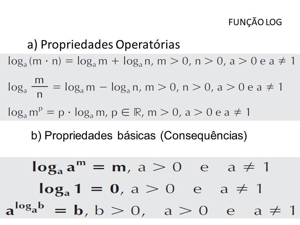 a) Propriedades Operatórias