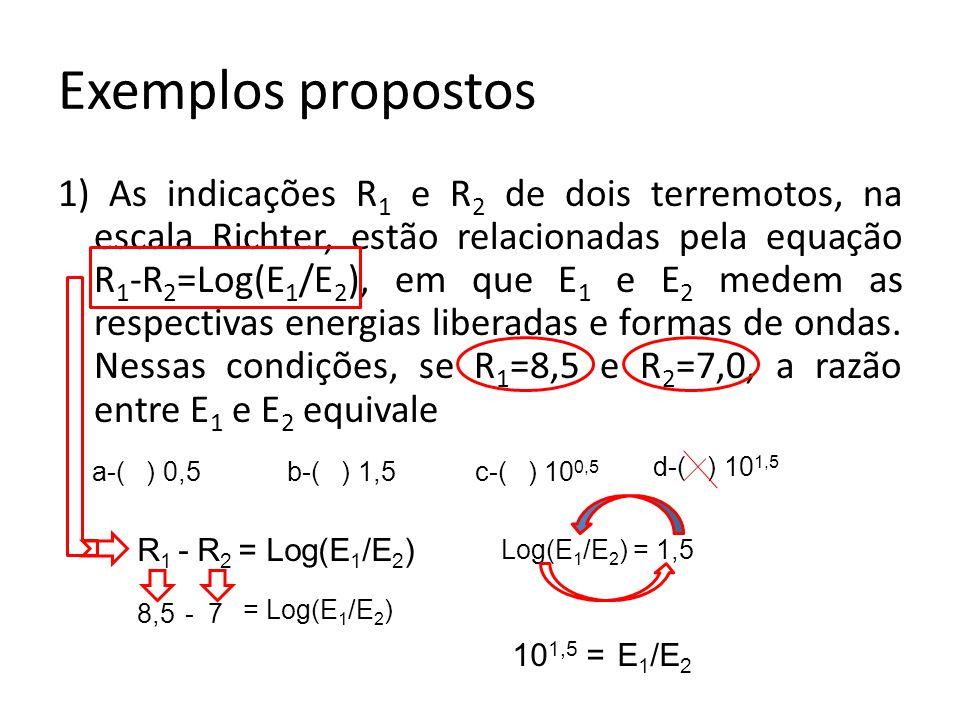Exemplos propostos
