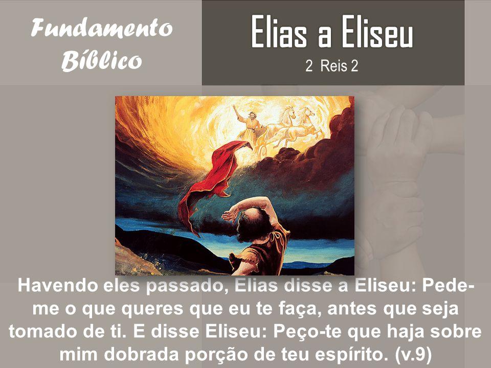 Elias a Eliseu Fundamento Bíblico