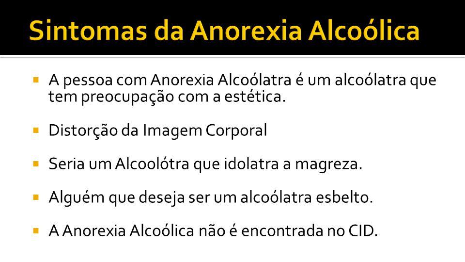 Sintomas da Anorexia Alcoólica