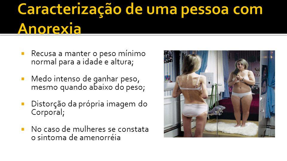 Caracterização de uma pessoa com Anorexia