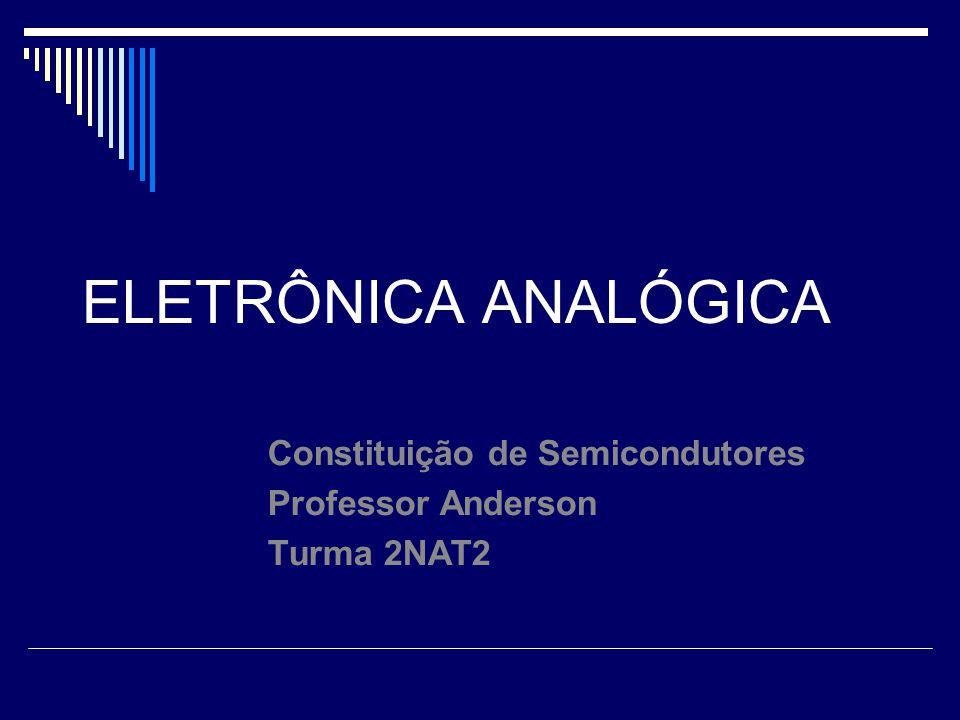 Constituição de Semicondutores Professor Anderson Turma 2NAT2