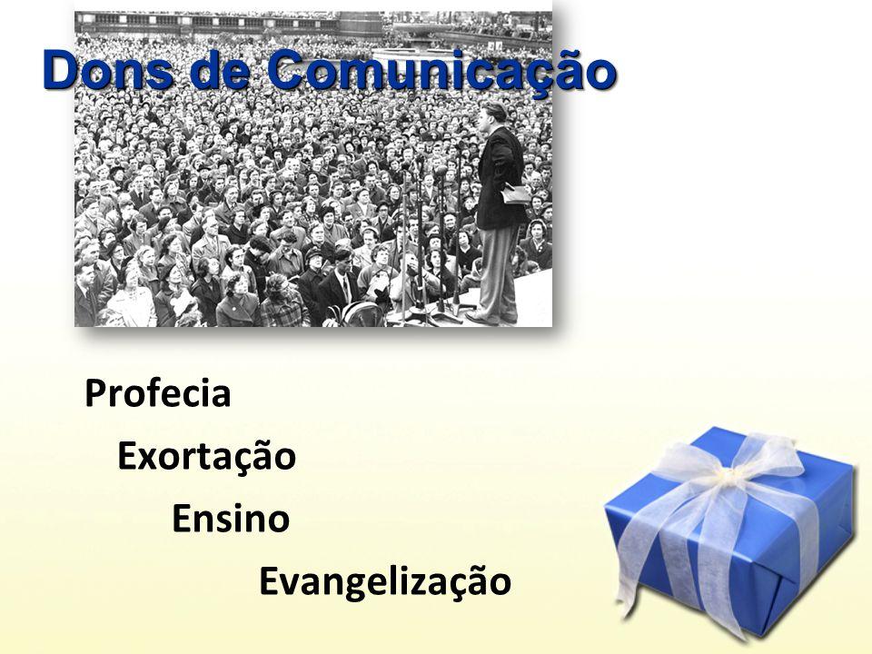 Dons de Comunicação Profecia Exortação Ensino Evangelização