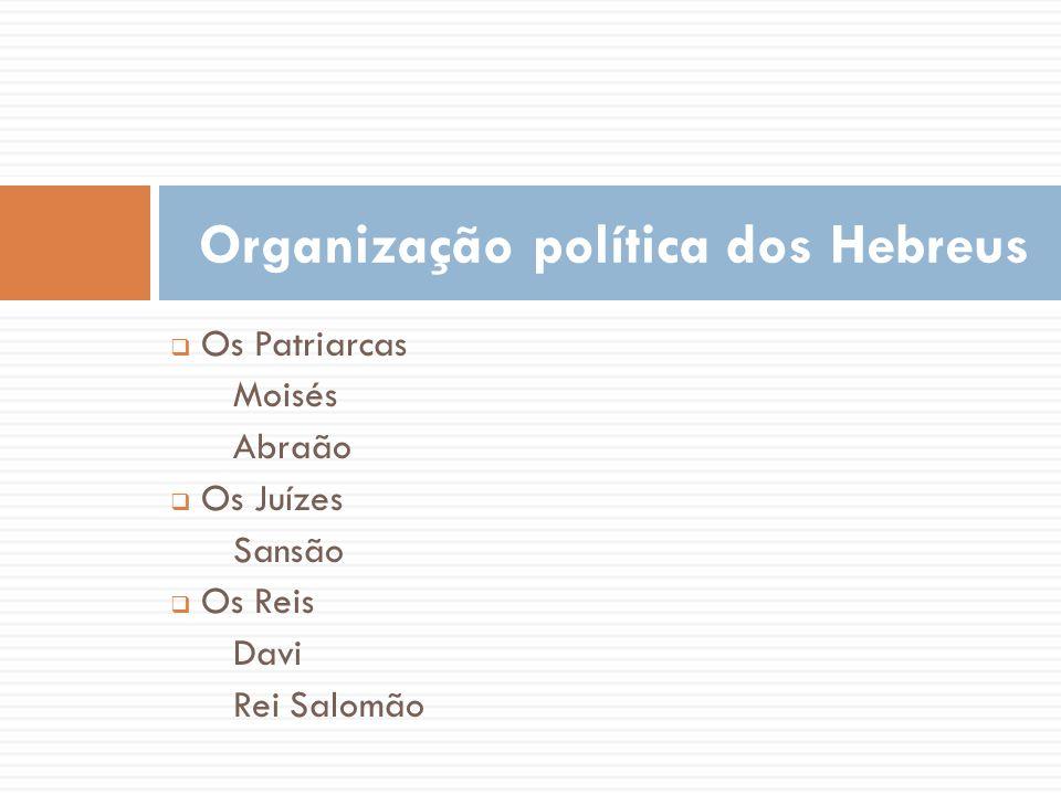 Organização política dos Hebreus