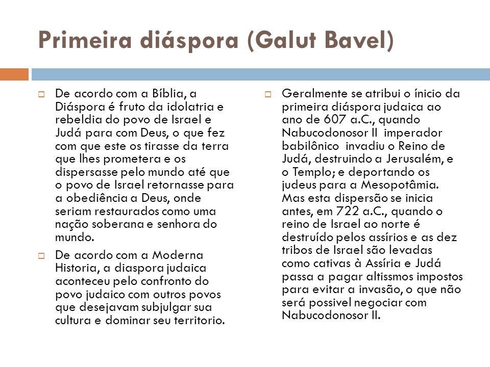 Primeira diáspora (Galut Bavel)