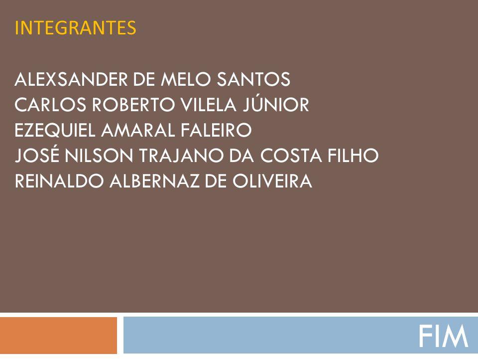 Integrantes Alexsander de Melo Santos Carlos Roberto Vilela Júnior Ezequiel Amaral Faleiro José Nilson Trajano da Costa Filho Reinaldo Albernaz de Oliveira