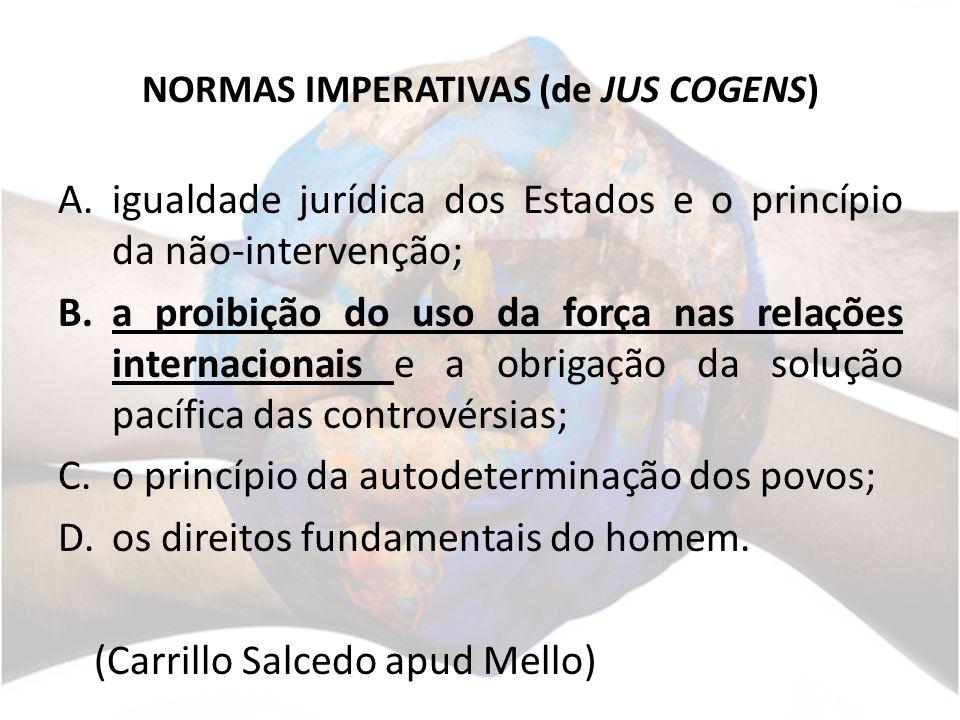 NORMAS IMPERATIVAS (de JUS COGENS)