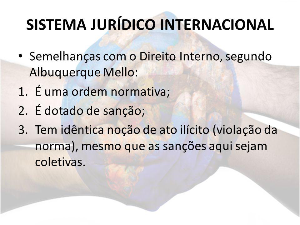 SISTEMA JURÍDICO INTERNACIONAL