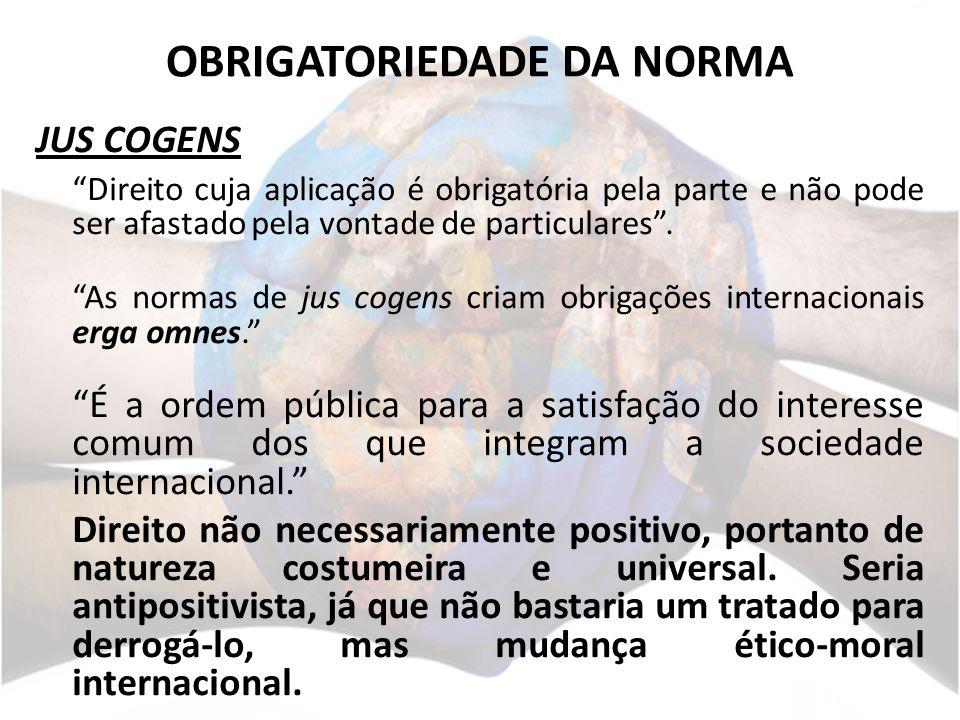 OBRIGATORIEDADE DA NORMA