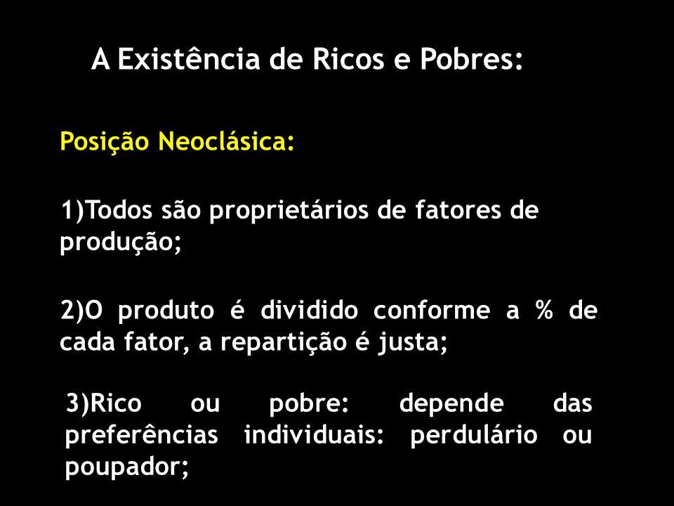 A Existência de Ricos e Pobres: