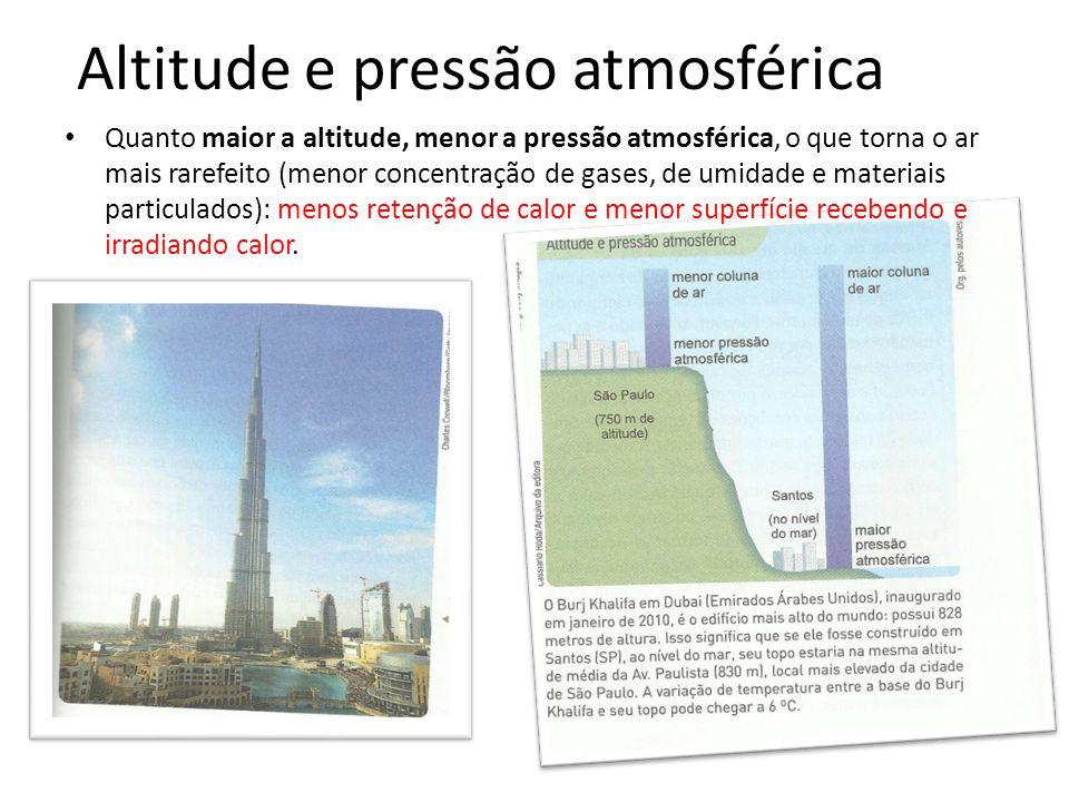 Altitude e pressão atmosférica