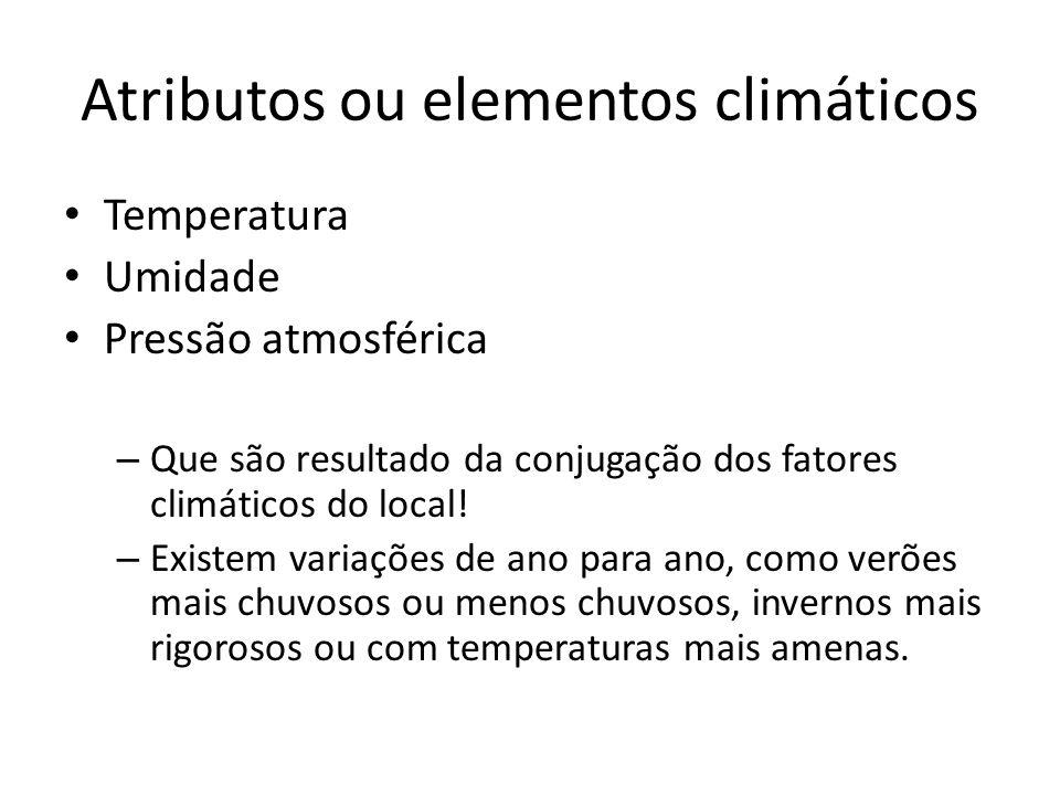 Atributos ou elementos climáticos