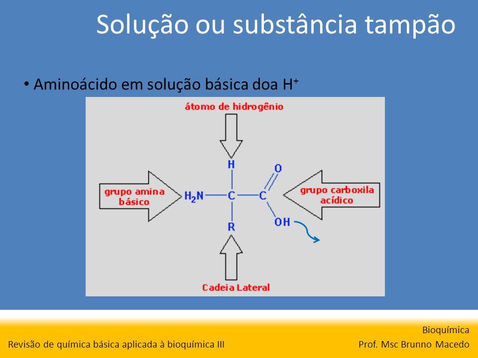 Solução ou substância tampão