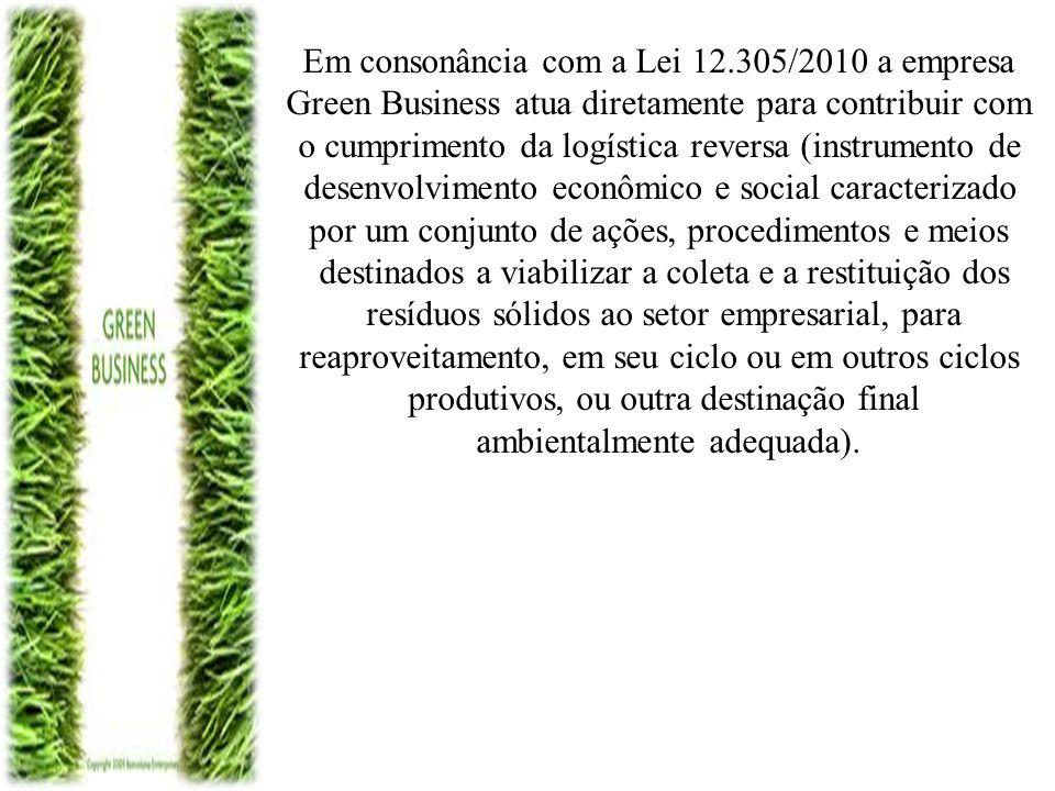 Em consonância com a Lei 12.305/2010 a empresa