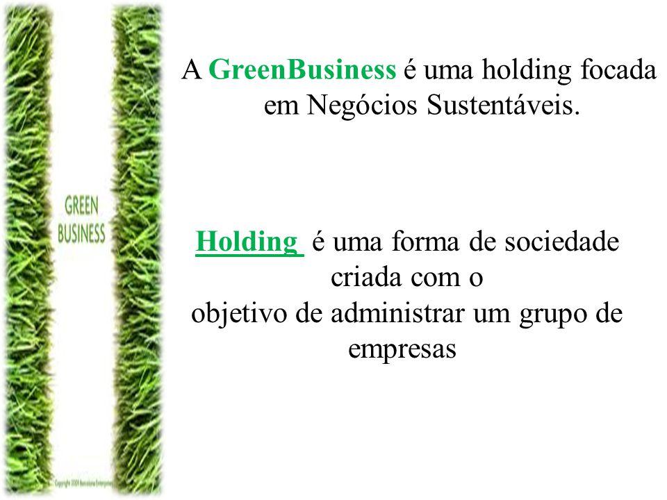 A GreenBusiness é uma holding focada em Negócios Sustentáveis.