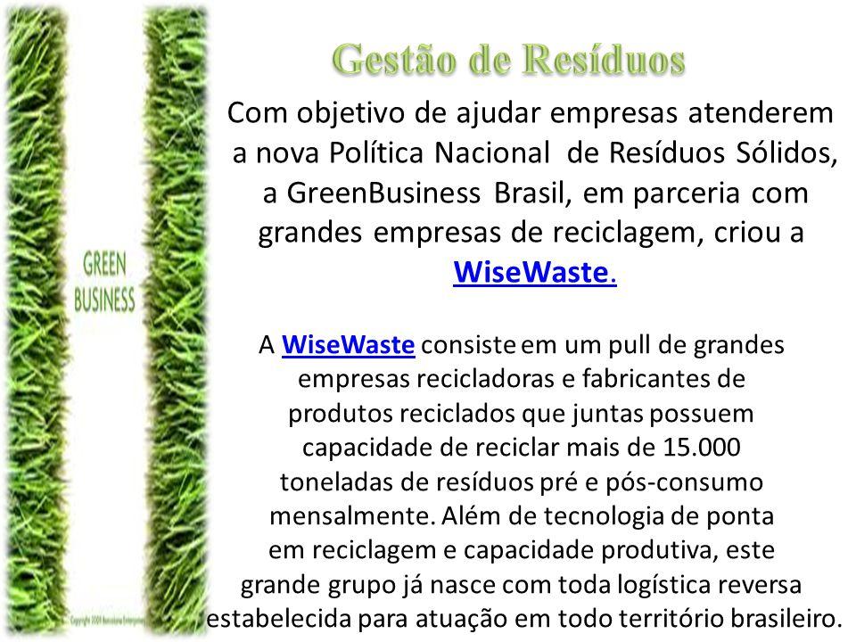 Gestão de Resíduos Com objetivo de ajudar empresas atenderem