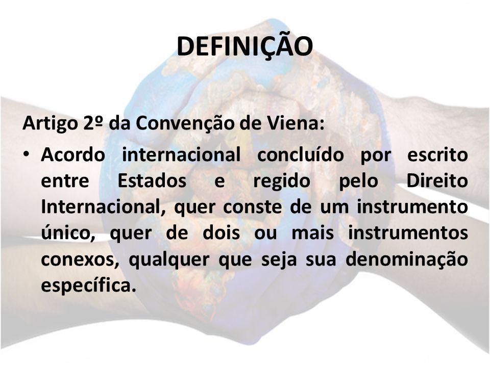 DEFINIÇÃO Artigo 2º da Convenção de Viena: