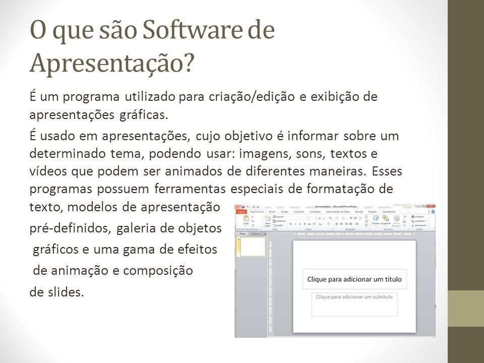 O que são Software de Apresentação
