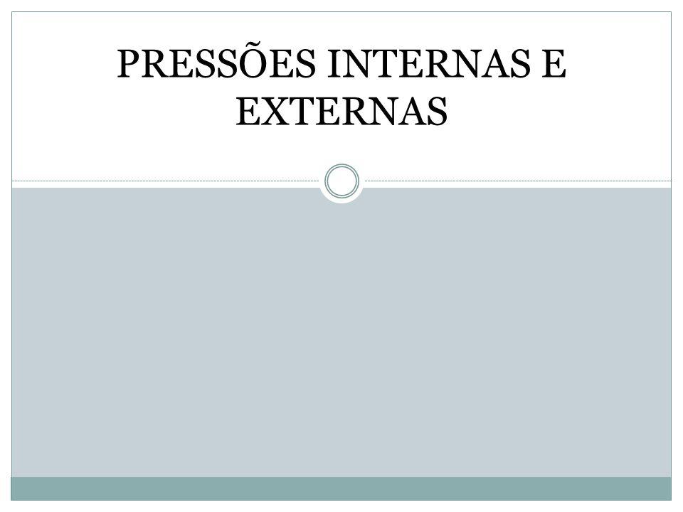 PRESSÕES INTERNAS E EXTERNAS