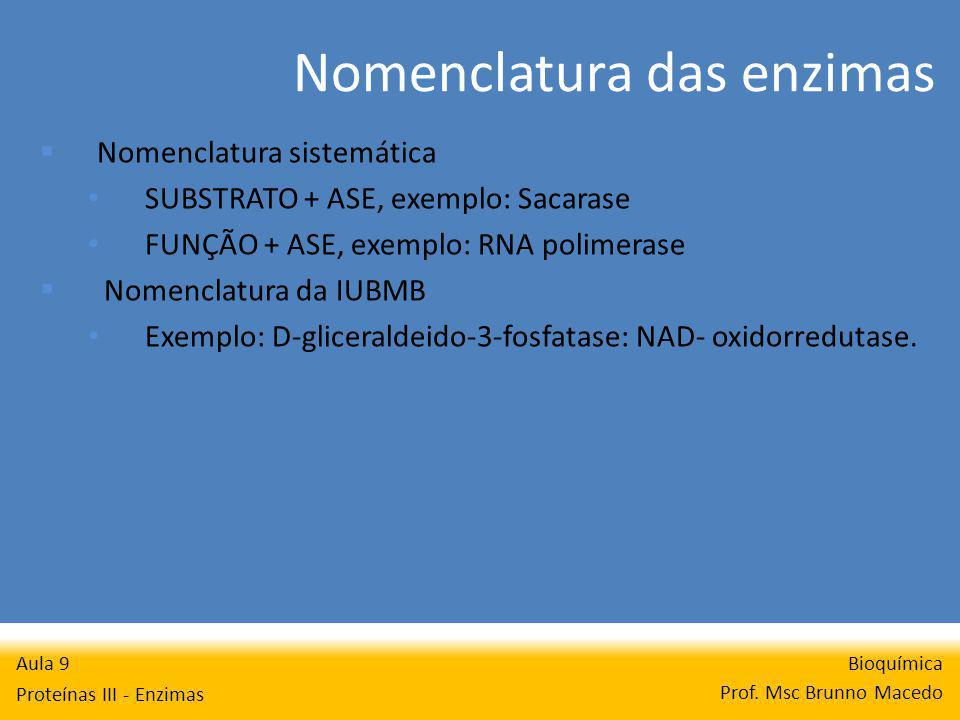 Nomenclatura das enzimas