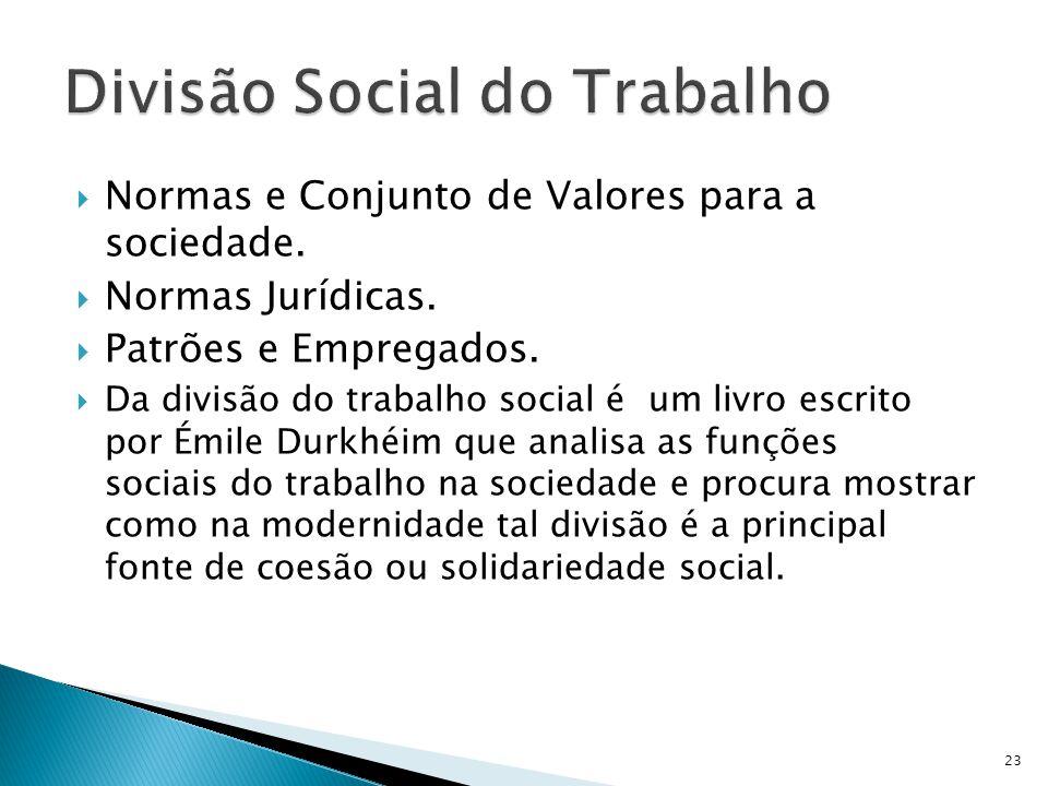 Divisão Social do Trabalho