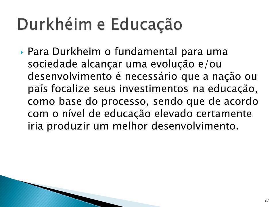 Durkhéim e Educação