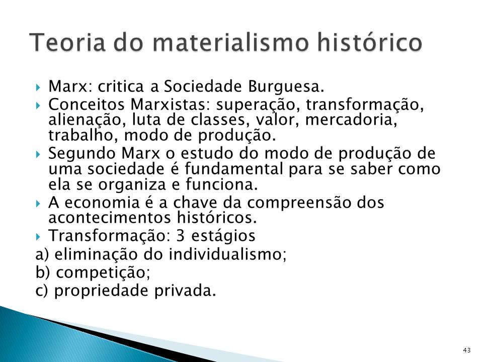 Teoria do materialismo histórico