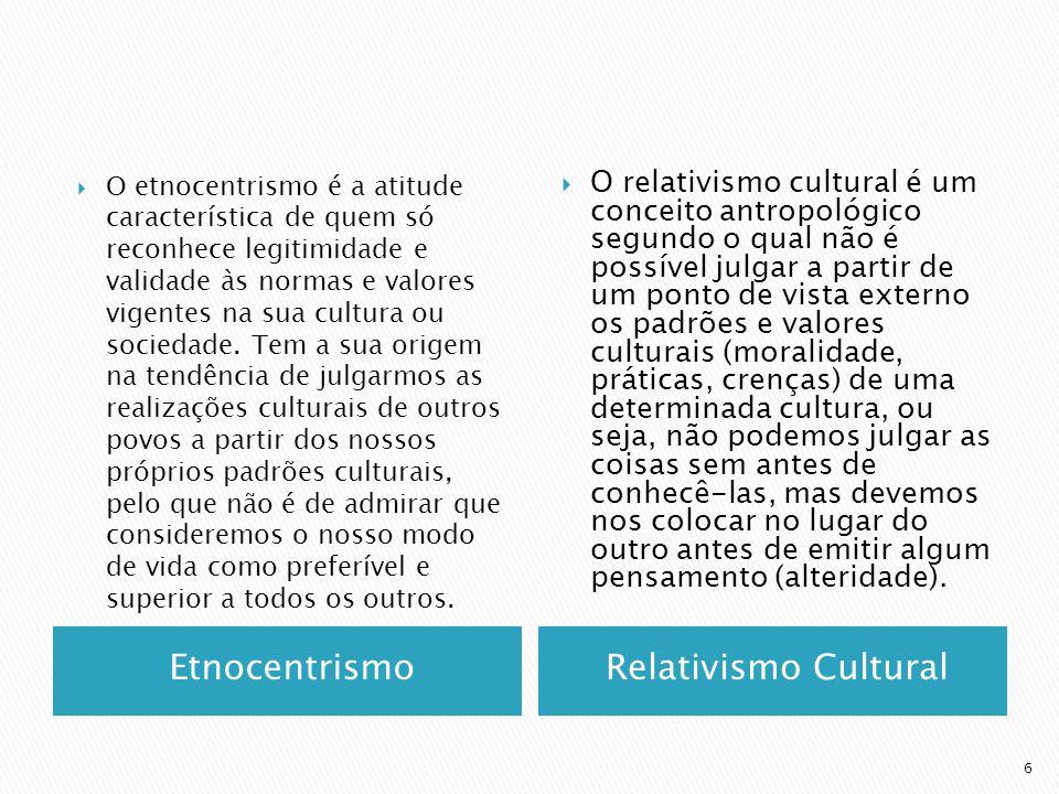 Etnocentrismo Relativismo Cultural