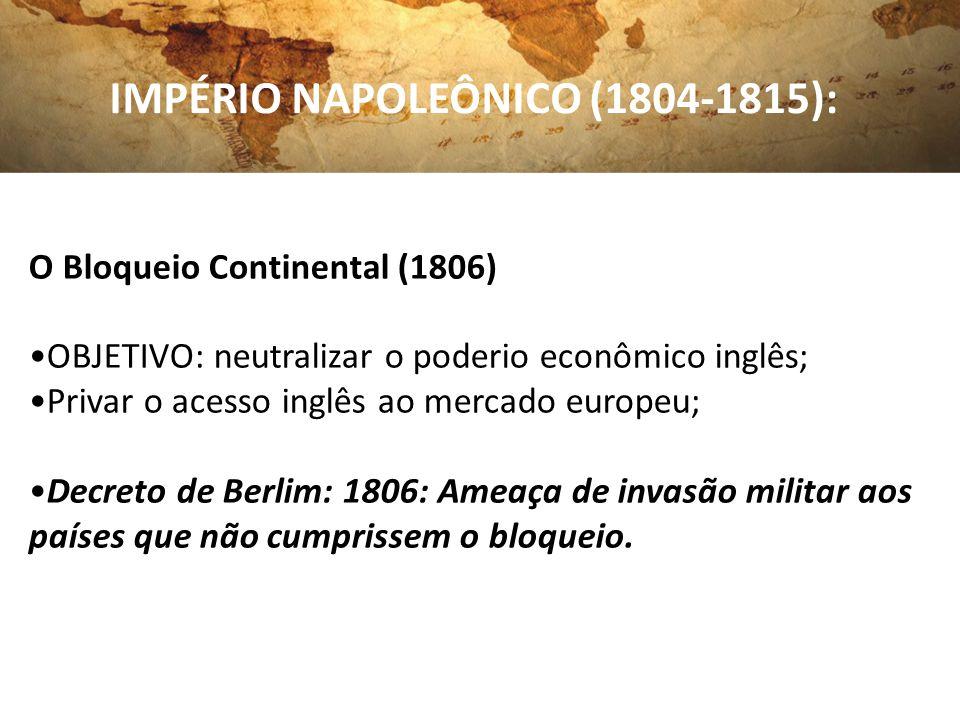 IMPÉRIO NAPOLEÔNICO (1804-1815):