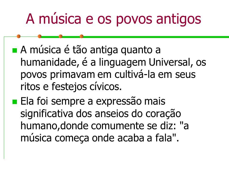 A música e os povos antigos