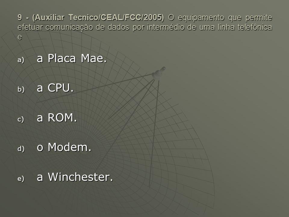 a Placa Mae. a CPU. a ROM. o Modem. a Winchester.
