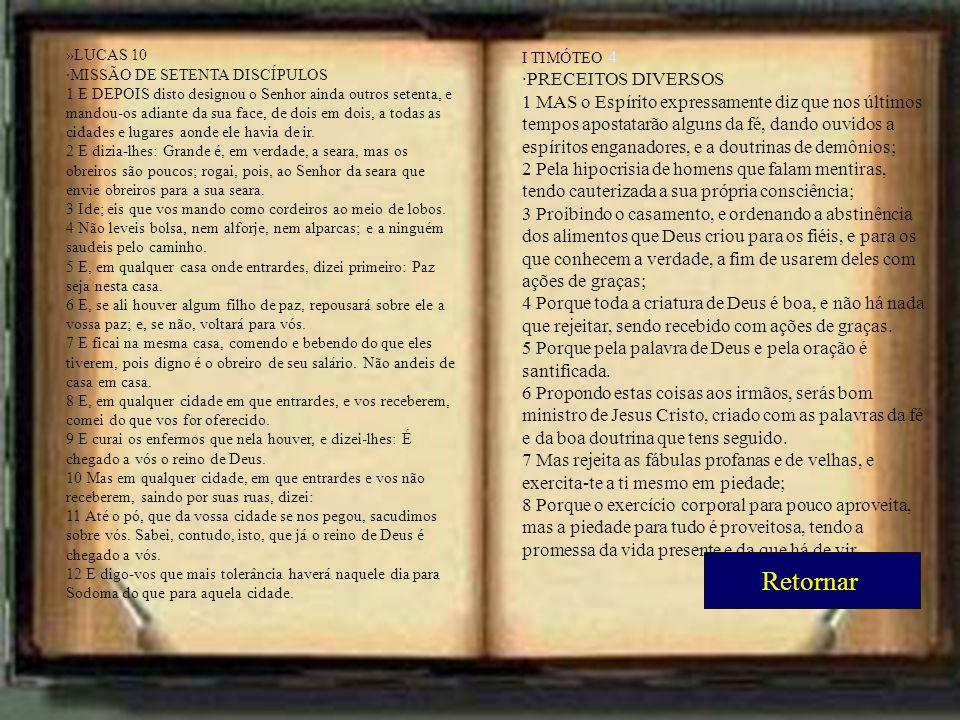 Retornar ·PRECEITOS DIVERSOS