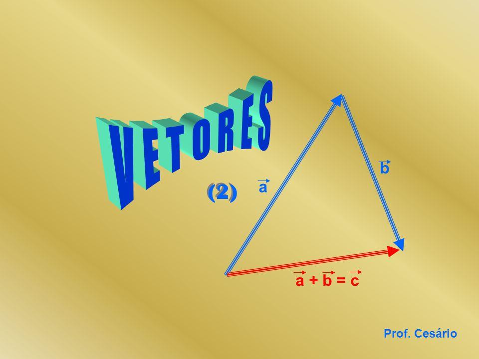 V E T O R E S b (2) a a + b = c Prof. Cesário