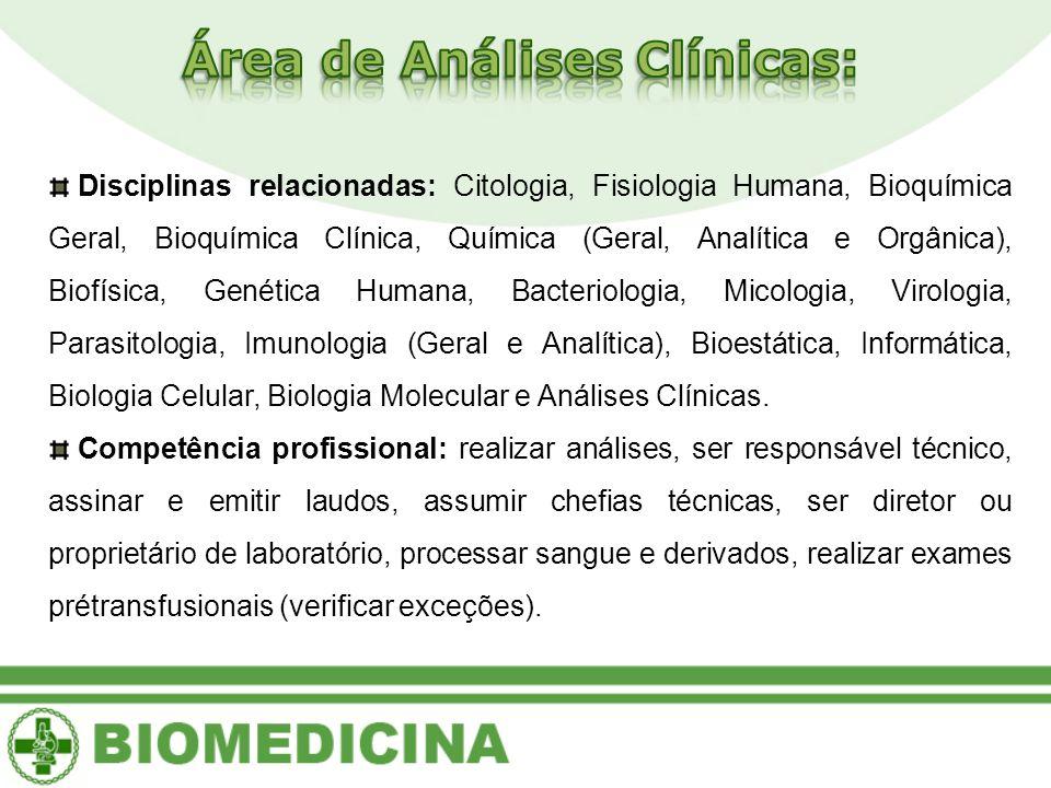 Área de Análises Clínicas: