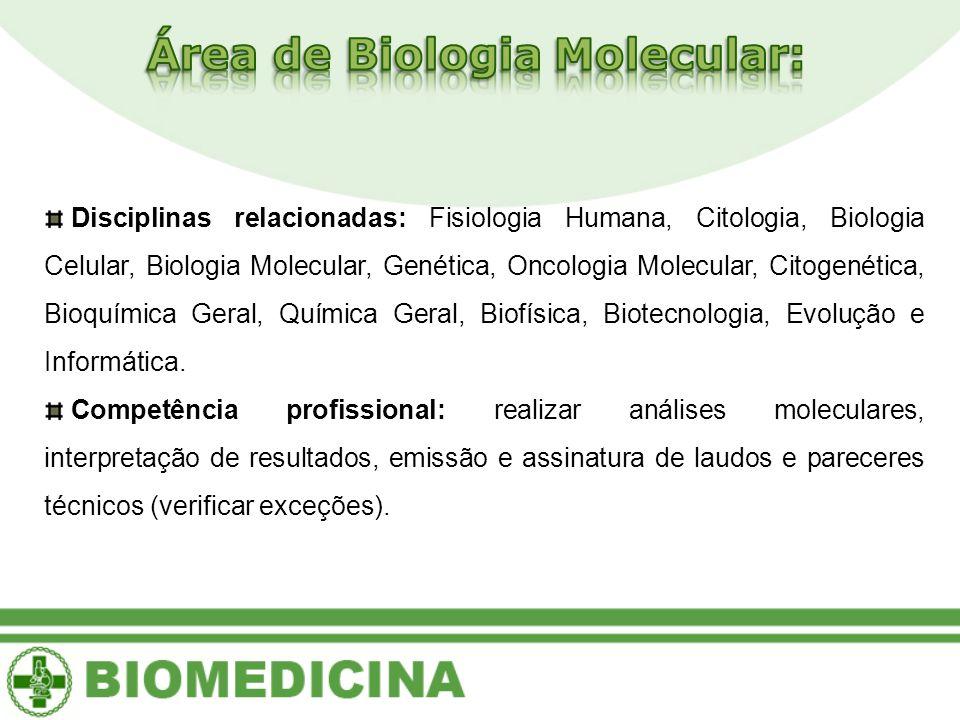 Área de Biologia Molecular: