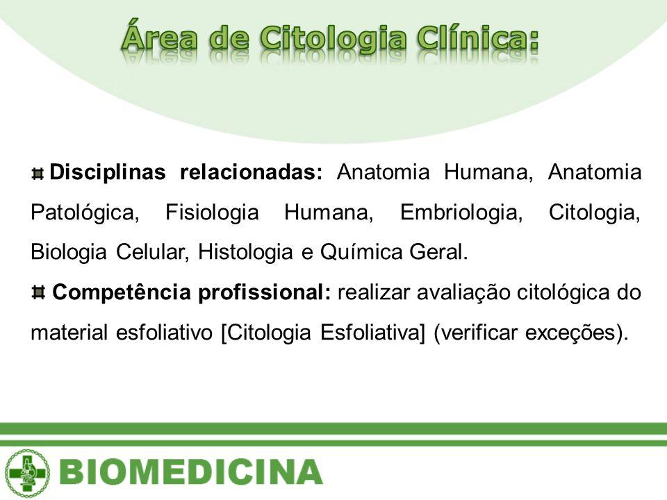 Área de Citologia Clínica: