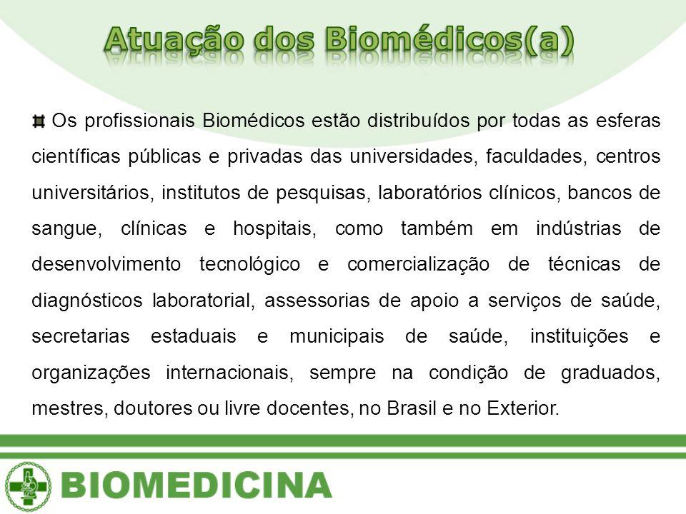 Atuação dos Biomédicos(a)