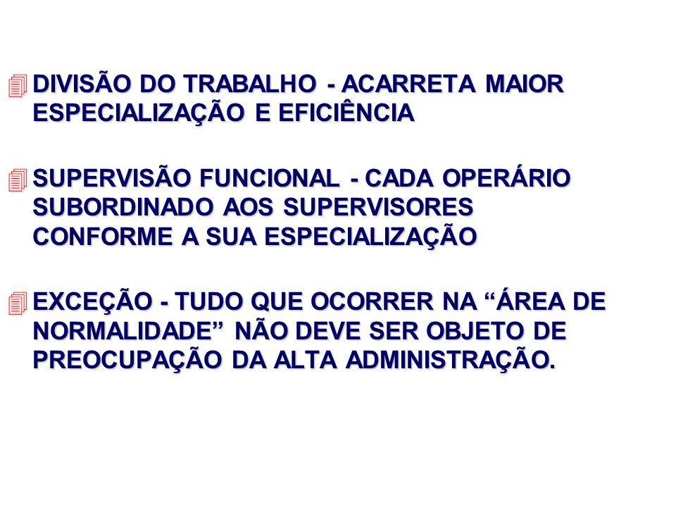 DIVISÃO DO TRABALHO - ACARRETA MAIOR ESPECIALIZAÇÃO E EFICIÊNCIA