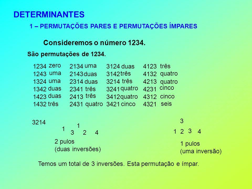 DETERMINANTES Consideremos o número 1234.